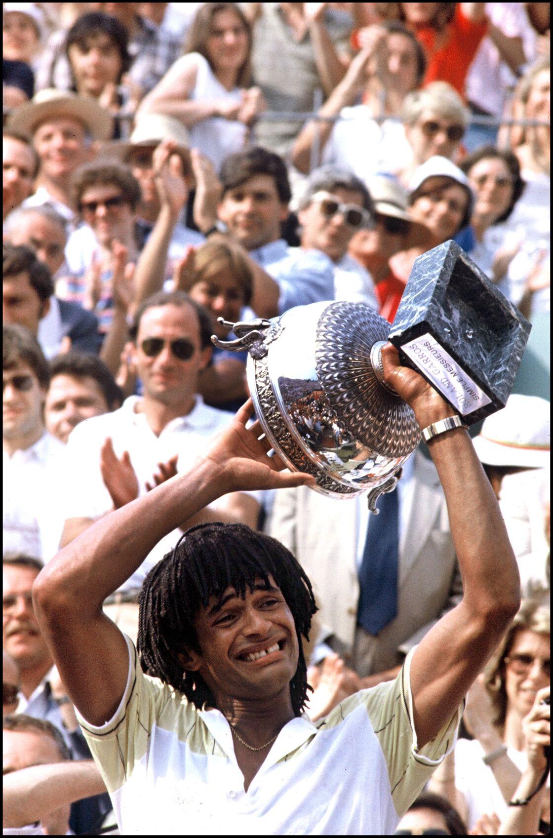 Yannick Noah, vainqueur du tournoi de Roland Garros en 1983.
