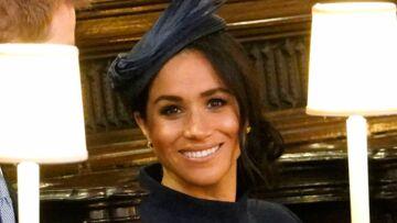 PHOTOS – Mariage d'Eugénie d'York: Meghan Markle très élégante en robe bleu nuit Givenchy