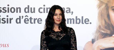 Photos Monica Bellucci Divine En Robe Dentelle Noire Affiche Ses