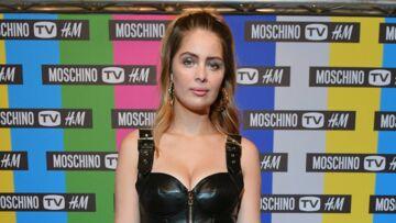 PHOTOS – Marie-Ange Casta terriblement sexy en robe bustier en cuir de la collection Moschino et H&M