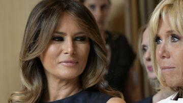 VIDÉO – Quand Brigitte Macron incite Melania Trump à embrasser son mari: scène surréaliste à l'Elysée