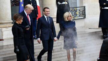 VIDEO – Brigitte et Emmanuel Macron complètement enfumés par l'imposante Cadillac de Donald Trump