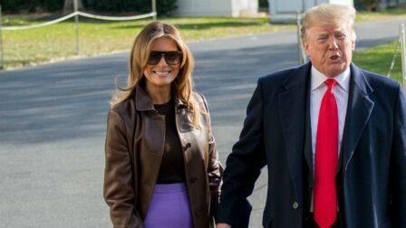 Une Avec Melania Photos Rock Fendue Chic Jupe Un Et – Trump HxT0qB