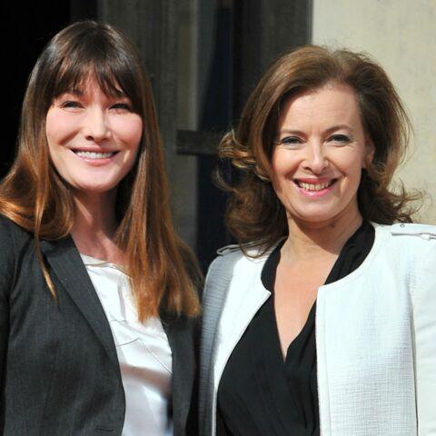 Carla Bruni-Sarkozy: ses mots très touchants pour Valérie Trierweiler après «l'ouraganqui lui est tombé dessus»