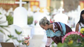 Laeticia Hallyday: découvrez ce qu'elle a laissé sur la tombe de Johnny Hallyday