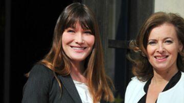 Valérie Trierweiler:  de plus en plus complice avec Carla Bruni
