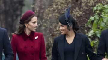 Kate et Meghan ont fait la paix et s'affichent tout sourire à la messe de Noël