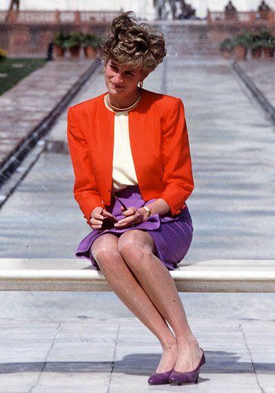 Diana au Taj Mahal, en Inde, en 1992