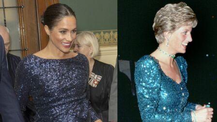 2b1b0057d2fe7 PHOTOS – Meghan Markle enceinte et en robe à sequins   son évident hommage  à Diana