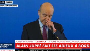 VIDÉO – Alain Juppé ému aux larmes lors de son discours d'adieux à sa ville de Bordeaux