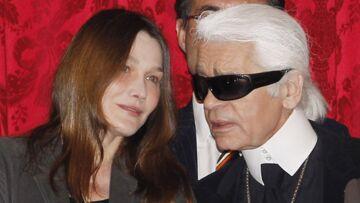 Mort de Karl Lagerfeld: Carla Bruni, qui a défilé pour lui, lui rend hommage