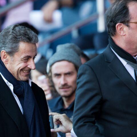 PHOTOS – Nicolas Sarkozy et François Hollande côte-à-côte au Parc des Princes pour applaudir le PSG