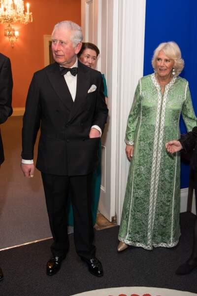Même smoking pour le prince Charles et même caftan pour Camilla Parker Bowles le 6 mars dernier