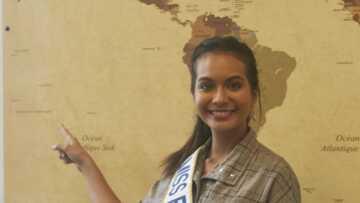 PHOTOS – Vaimalama Chaves s'improvise professeure des écoles dans une tenue chic et sexy