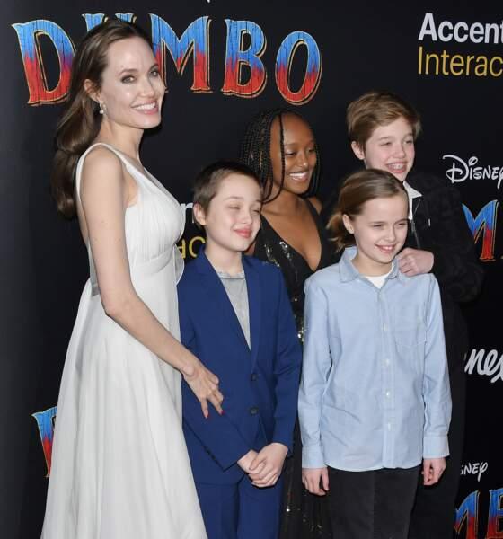 Les enfants d'Angelina Jolie sont désormais des adolescents en plein épanouissement