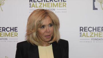 PHOTOS – Brigitte Macron élégante en robe courte jaune, elle se mobilise contre la maladie d'Alzheimer
