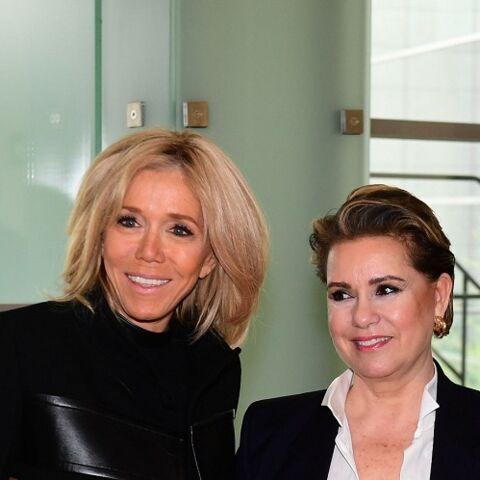 PHOTOS – Brigitte Macron recycle un manteau qui avait fait le buzz pour une bonne cause