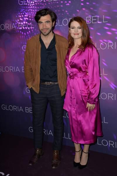 """Elodie Frégé et Gian Marco Tavani à l'avant-première de """"Gloria Bell"""""""