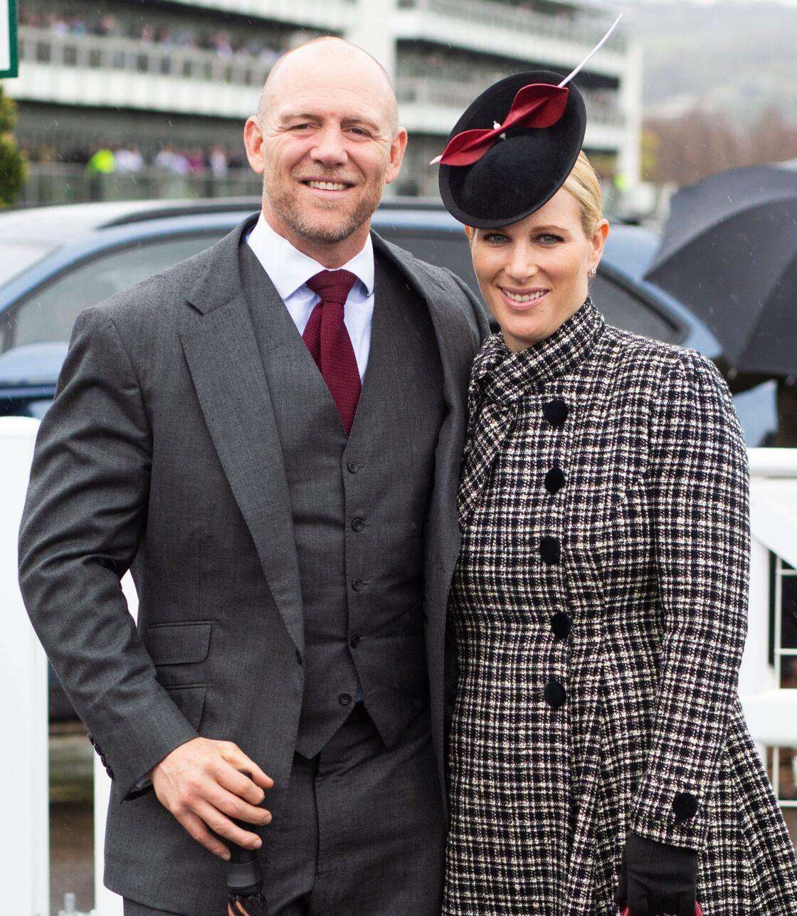 Zara et Mike Tindall au Cheltenham National Hunt Festival, le 15 mars 2019.