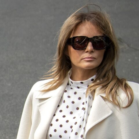 PHOTOS – Melania Trump s'inspire de Kate Middleton dans une très chic robe à pois