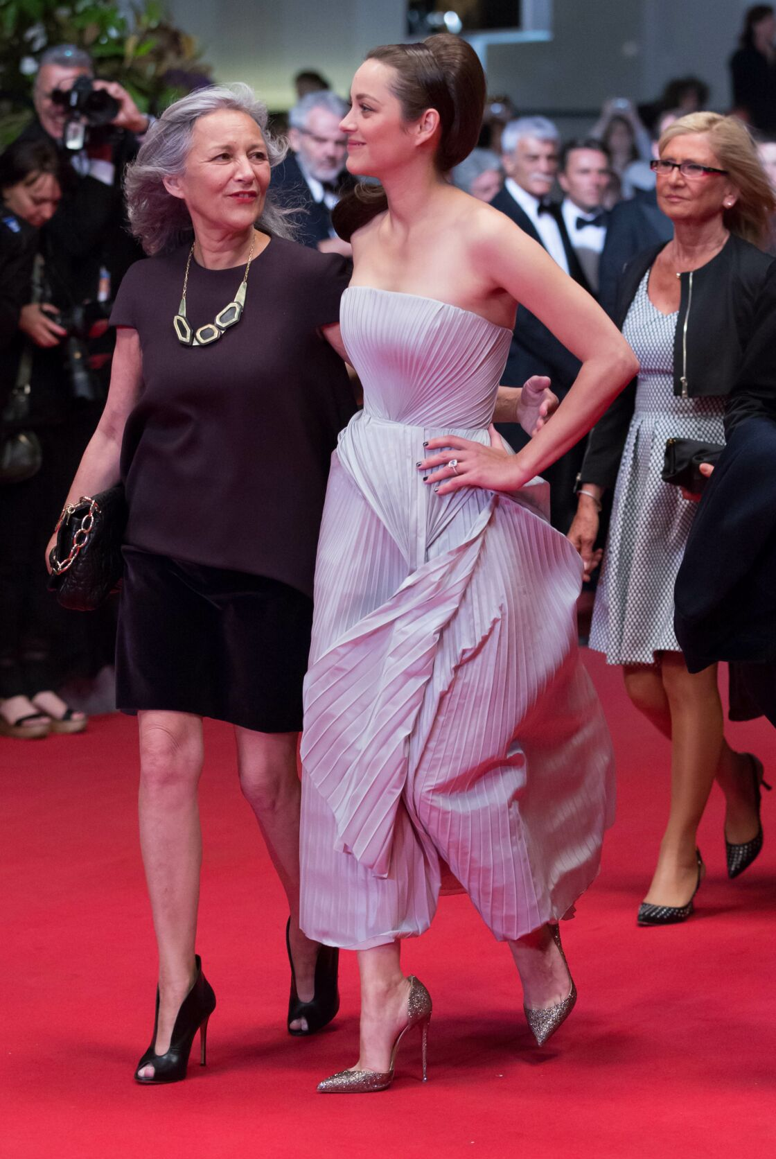 Marion Cotillard accompagnée de sa maman, Niseema Theillaud au Festival de Cannes 2014
