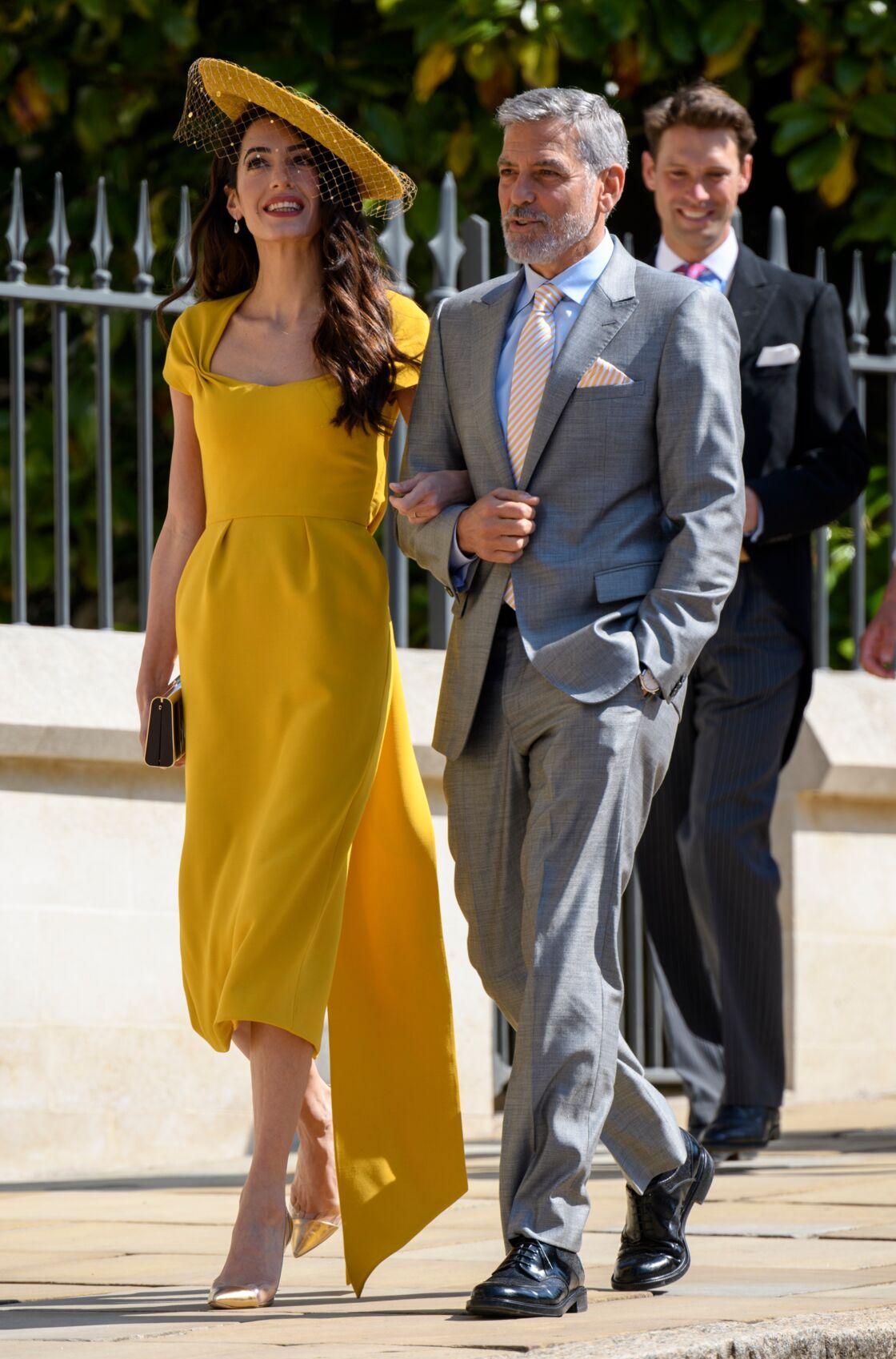 George et Amal Clooney au mariage de Meghan et Harry le 19 mai 2018