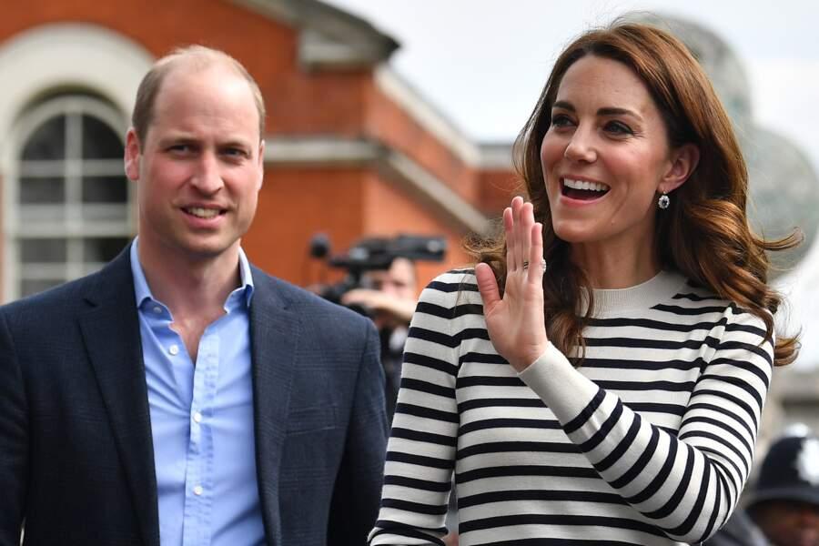 Kate Middleton et le prince William en tenues chic  et décontractées sur l'île de Wight, à Londres le 7 mai 2019