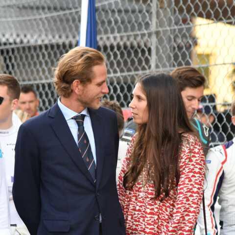 PHOTOS – Andrea Casiraghi et Tatiana souriants et complices sur le circuit de Monaco