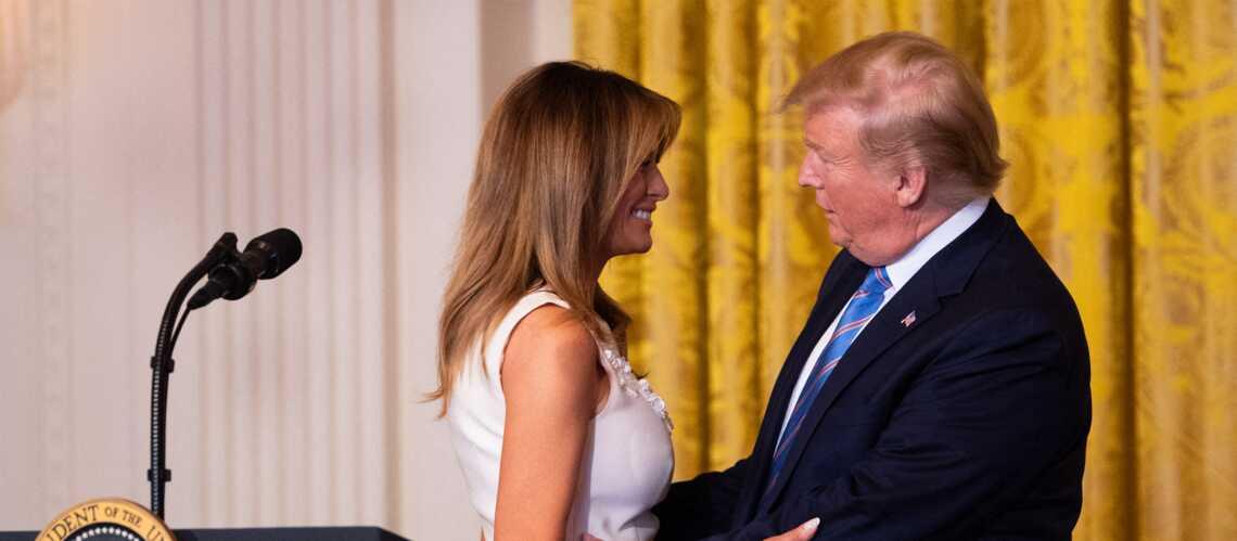 Melania et Donald Trump: encore un baiser (très) maladroit - Gala