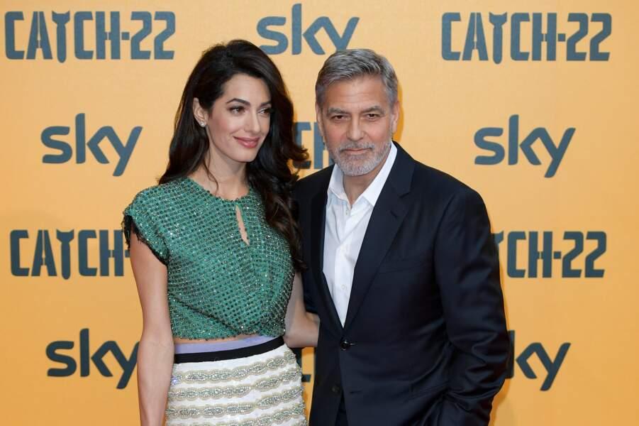 Amal Clooney très lookée dans cette tenue de la collection printemps/été 2018 de Gimabattista Valli