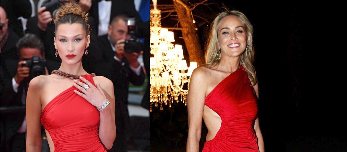 PHOTOS – Cannes 2019: quand Bella Hadid porte la même robe que Sharon Stone… six ans plus tard - Gala
