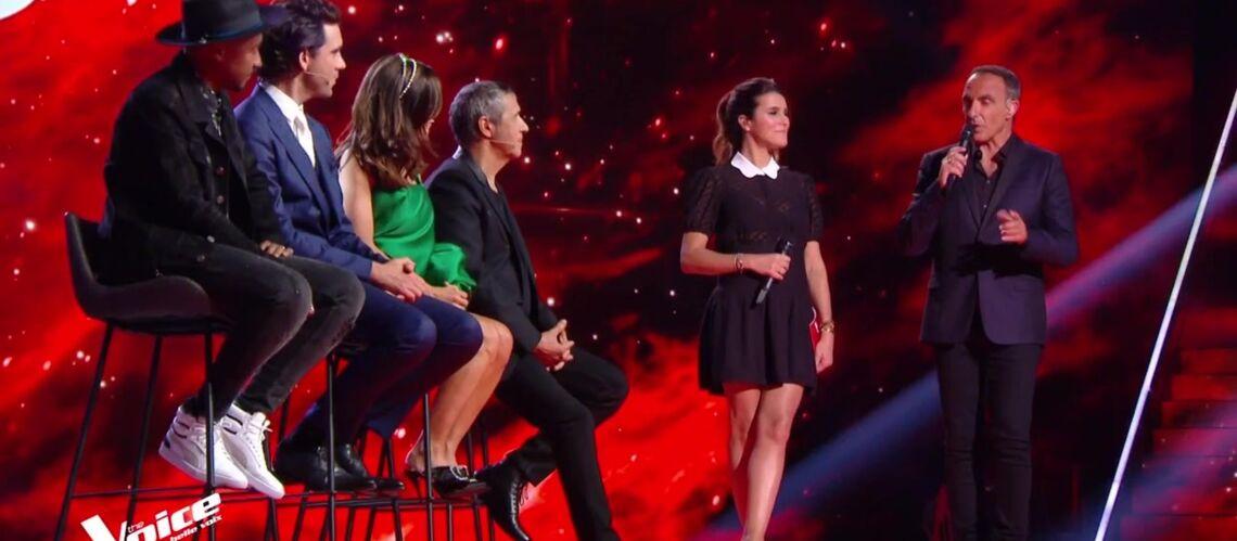 PHOTOS – Karine Ferri dévoile ses jolies jambes pour son retour dans The Voice - Gala