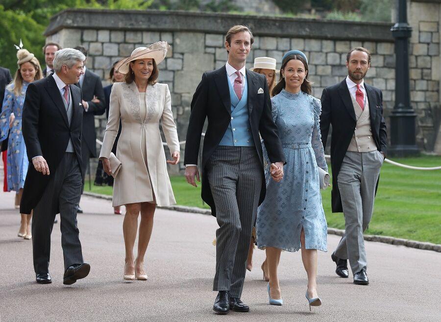 James Matthews et Pippa Middleton au mariage de Gabriella Windsor, à Londres, le 18 mai 2019.