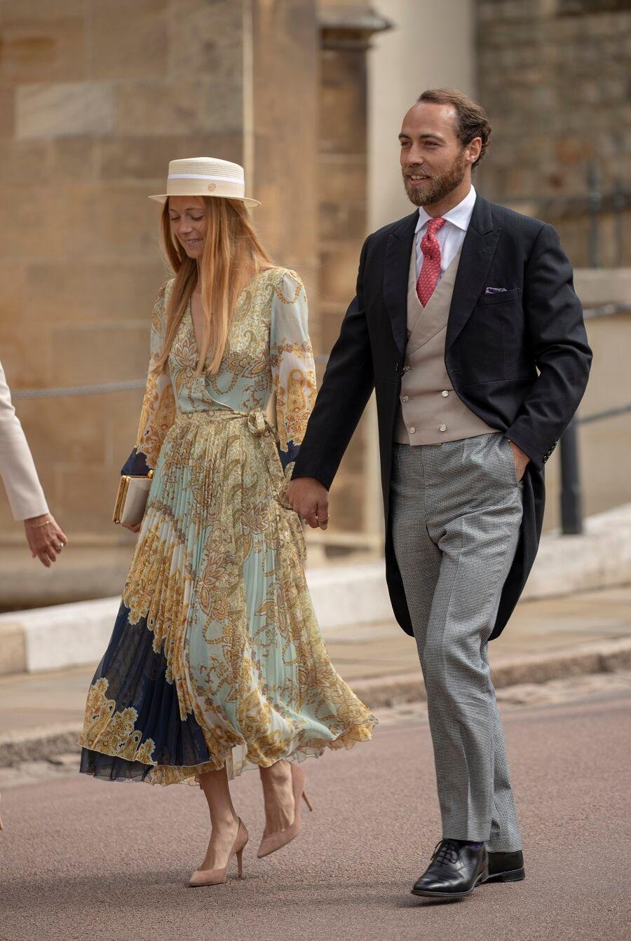 Alizée Thévenet et James Middleton au mariage de Gabriella Windsor, à Londres, le 18 mai 2019.