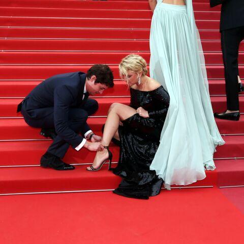 PHOTOS – Cannes 2019: Virginie Efira, son accident de chaussures sur le tapis rouge