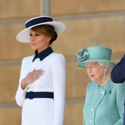 PHOTOS – Melania Trump, très inspirée par Lady Diana pour ses retrouvailles avec la reine