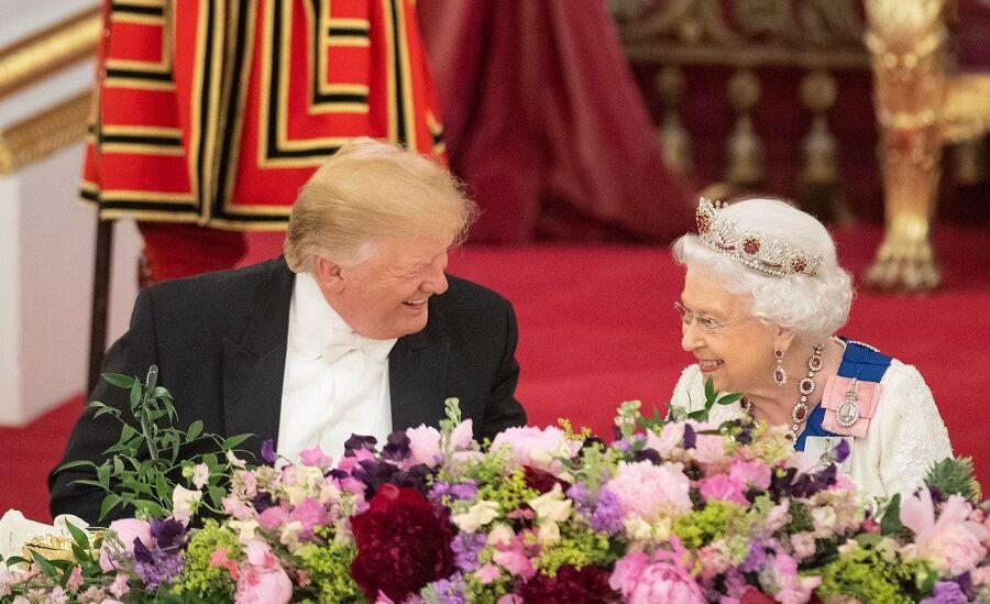 Donald Trump et Elizabeth II au Palais de Buckingham, le 3 juin 2019.