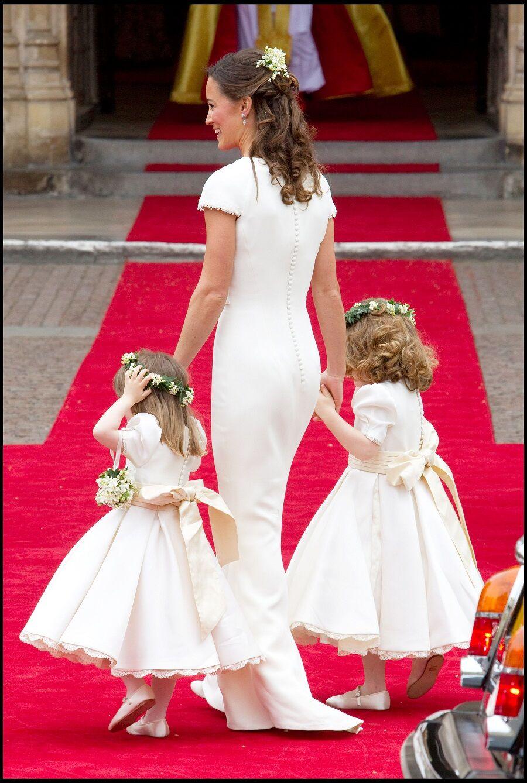 Pippa Middleton au mariage royale de Kate et William, à Londres, en avril 2011.