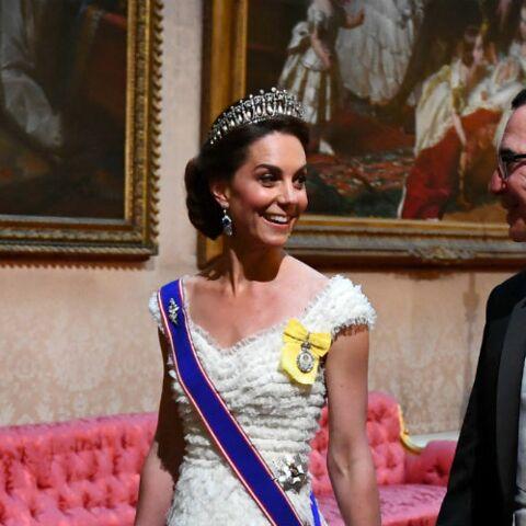 PHOTOS – Kate Middleton et Melania Trump rivalisent d'élégance à Buckingham