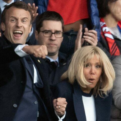 PHOTOS- Brigitte et Emmanuel Macron premiers supporters des Bleues