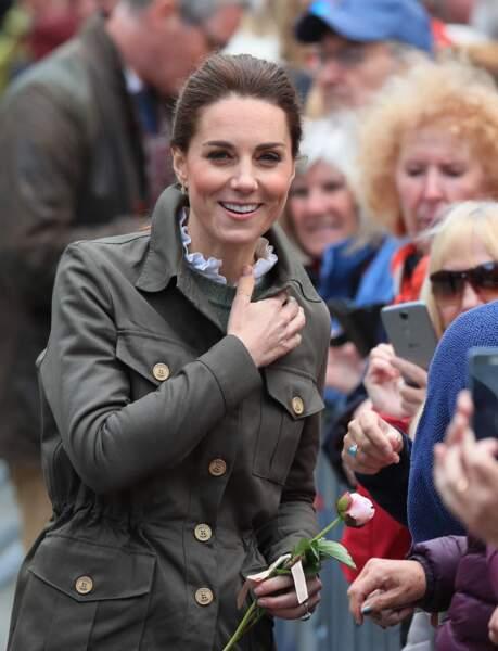Kate Middleton adopte désormais un maquillage très prononcé même de jour le 11 juin 2019