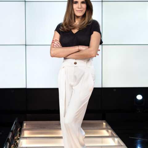 Photos – Karine Ferri copie la sublime tenue d'une célèbre chanteuse pour sa prochaine émission