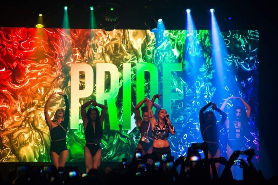 Melanie C des Spice Girls en concert à l'occasion de la Pride à Sao Paulo au Brésil, le 21 juin 2019.