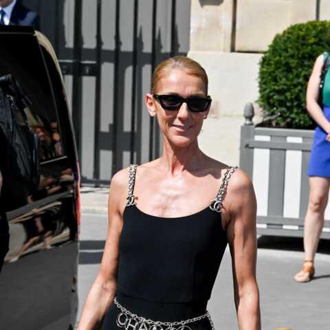 PHOTOS – Céline Dion, ultra-svelte dans une combi très près du corps, griffée Chanel