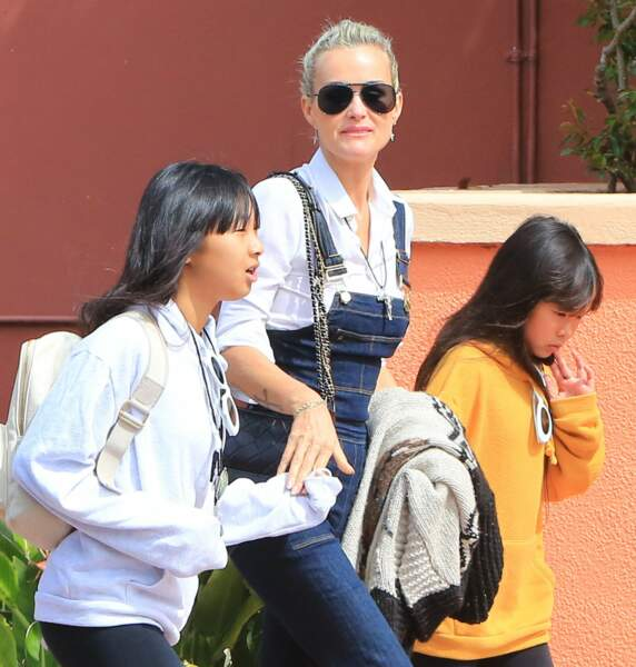 Laeticia Hallyday et ses filles