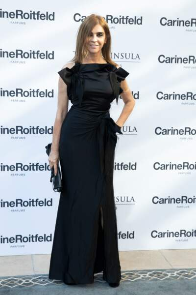Carine Roitfeld à la soirée de lancement du parfum 7 lovers de Carine Roitfeld