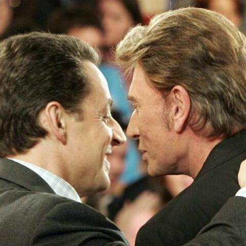 Nicolas Sarkozy évoque les «mauvais jours» de Johnny