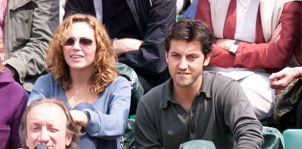 Claire Keim et Frédéric Diefenthal, à Roland Garros, en mai 2001.