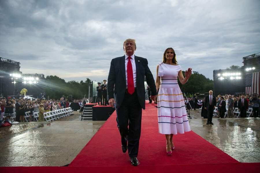 Melania Trump en robe très moulante pour la fête nationale américaine