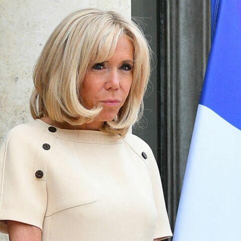 Photos Brigitte Macron En Robe Manche Courte Beige C Est Deja L Ete A L Elysee Gala